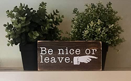 PotteLove Rustieke Houten Plaque muur kunst opknoping teken worden leuk of bladeren. Kleine vrijstaande houten bord met een grappige citaat. Het is perfect voor kantoor, douchecabine of huis houten plank of bureau Sitter 12