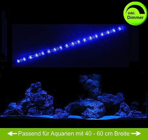 creative lights - Licht & Design Aquarium Mondlicht 30 cm LED LICHTLEISTE + DIMMER Komplettset INKL. NETZTEIL Flexi-Slim BLAU