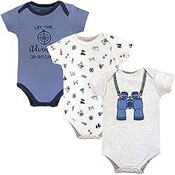 Little Treasure Unisex Baby Cotton Bodysuits, Binoculars, 6-9 Months