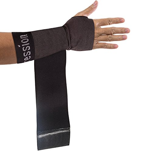 Copper Compression Recovery Wrist Sleeve with Adjustable Wrap for Extra Support. Guaranteed Highest Copper Wrist Brace. Carpal Tunnel, RSI, Sprains, Workout (1 Sleeve - Fit for Either Hand)