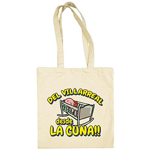 Diver Camisetas Bolsa de tela del Villarreal desde la cuna para aficionado al fútbol - Beige, 38 x 42 cm
