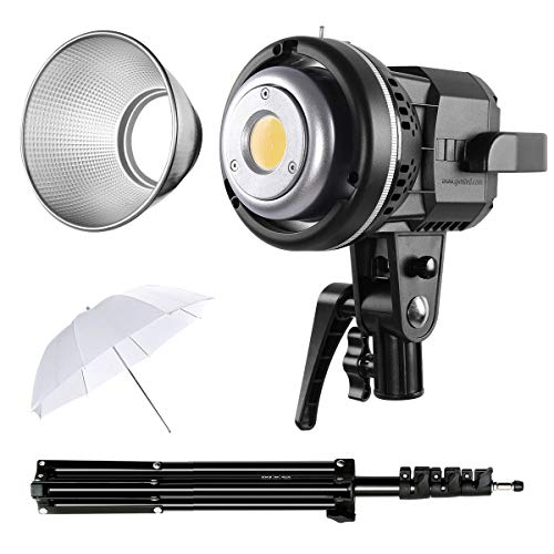 GVM 80W CRI97+ 5600K Dimmable LED Video Lights with Bowens Mount Kit Continuous Output Lighting Spotlight for YouTube Vlog Studio Children Wedding Photography Shooting Light with Reflector