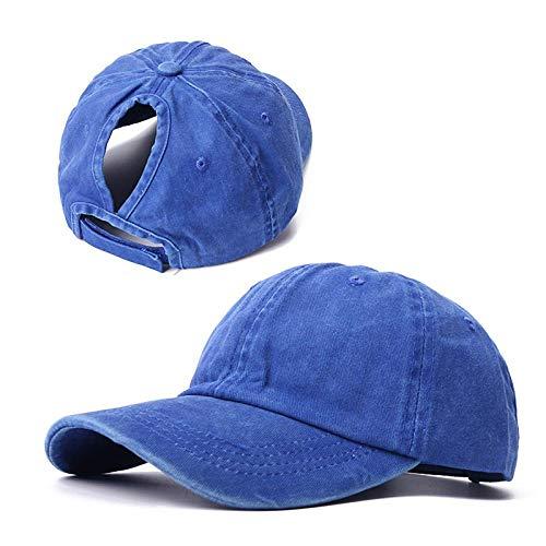 Baseballkappe für Damen, Netz-Baseballmütze, Sommer-/Strandkappe, einfarbig, Snapback-Mädchen, Sonnenhüte mit Loch, Outdoor-Sport-Kappe, B