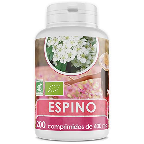 Espino Blanco Orgánico - 400 mg - 200 comprimidos