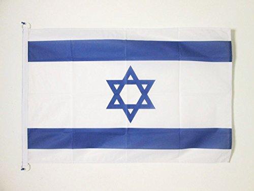 AZ FLAG Flagge Israel 90x60cm - ISRAELISCHE Fahne 60 x 90 cm Aussenverwendung - flaggen Top Qualität
