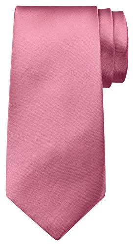 BomGuard 8 cm dunkel-rosa glänzend herren-krawatte damen seide männer frauen