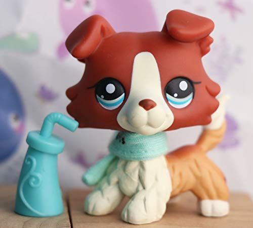 VIPPET lps Rare Figures 1pc with Accessories, lps Pets lps Shorthair Cat lps Collie lps Great Dane lps Dachshund lps Cocker Spaniel with lps Accessories Kids Gift (lps Collie 1542)