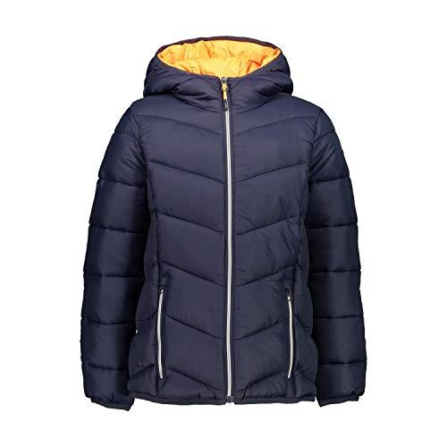 CMP Mädchen Steppjacke mit Feel Warm Flock Wattierung Jacke, Black Blue, 128