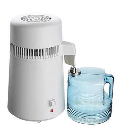 LSGMC Wasser Destilliergerät, 4L Reinwasserbrenner Edelstahl Haushalt Interne Destillierte Reinwassermaschine, 750W.