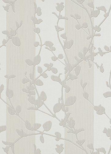 Vliestapete floral Streifen creme beige Tapete Erismann Make Up 2 6929-14 692914