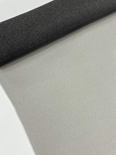 """Automotive Headliner 3/16"""" Foam Backed Fabric Material 60"""" Wide (Light Gray, 85"""" inches Long x 60"""" inches Wide)"""