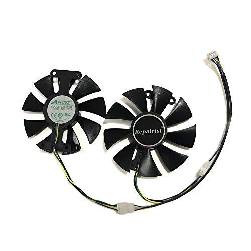 GA91S2H Grafikkarten-Lüfter für ZOTAC GTX1060-6GD5 X-Gaming OC, GTX 1060-3GD5 BT SM-A,GTX 950/960 AMP GTX1050Ti X-Gaming GTX760 2GD5 HB VGA GPU-Karten Kühlung