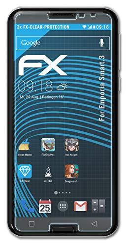 atFolix Schutzfolie kompatibel mit Emporia Smart.3 Folie, ultraklare FX Bildschirmschutzfolie (3X)