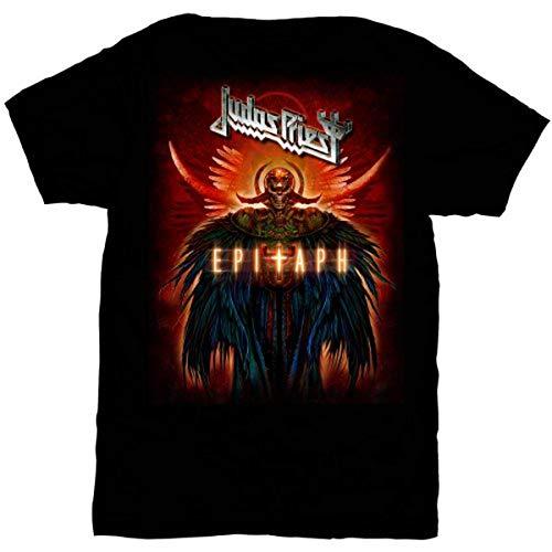 Judas Priest Herren Epitaph Jumbo Kurzarm T-Shirt Gr. S, Schwarz
