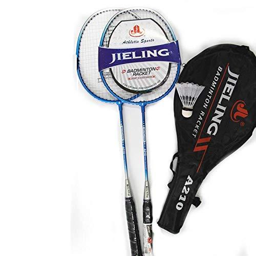 Badmintonracket volwassen dubbel racket duurzaam en duurzaam student kinderen badmintonracket-210 blauw