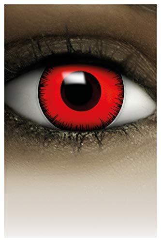 FXCONTACTS Lentilles de Contact Colorées pour Halloween, Lentilles à Motif Doux pour Déguisement, Usage Unique - SANS CORRECTION,2pcs 1 Paire - Déguisement en VOLTURI VAMPIRE - Rouge