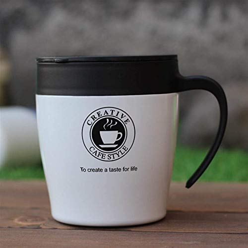 YAMMY Taza de Viaje, 330ml Taza de café con Mango de Acero Inoxidable Tazas térmicas Frasco de vacío Botella de Agua térmica Té portátil Agua Caliente con Aislamiento (Taza de Cerveza)