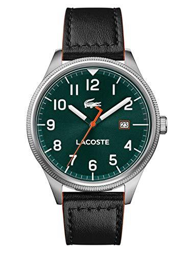 Lacoste Herren Analog Quarz Uhr mit Leder Armband 2011019