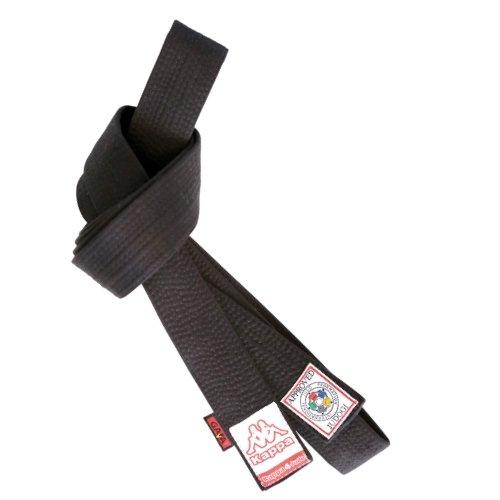 Kappa4Judo Athene, Cintura Judo Unisex – Adulto, Nero, 6/340 cm