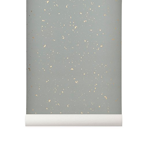 Ferm Living Behang Confetti Ferm Grey