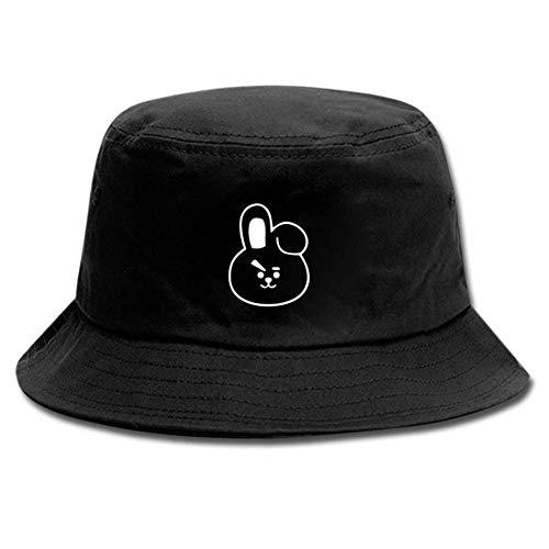 CAR-TOBBY Kpop BTS Baumwolle Hut Mode Hip Hop Hut Fischer Hut Sommerhut Außen Unisex Freizeit Hut - H02