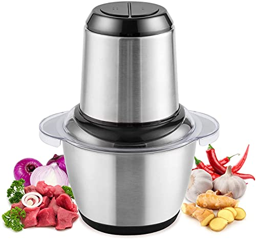 Laxvila India Electric Meat Grinder Machine, Food Vegetable Chopper Cutter, Mixer, Juicer, 350 Watt, 2 L Capacity (Multi Color)