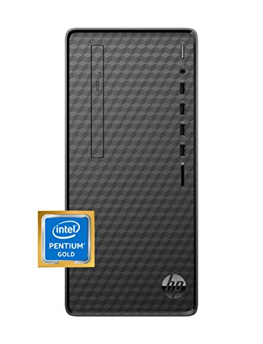 HP Desktop PC, Intel Pentium Gold G6400 Processor, 8 GB of RAM, 256 GB SSD Storage, Windows 10, High-Speed Performance Computer, 8 USB Ports, Business, Study, Videos, & Gaming (M01-F1014)