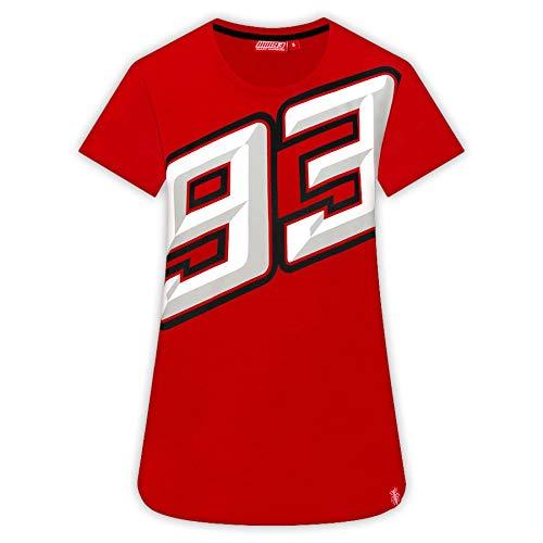 Talla XS-XL Camiseta de Manga Corta para Mujer Marc Marquez 2019 93 Color Gris