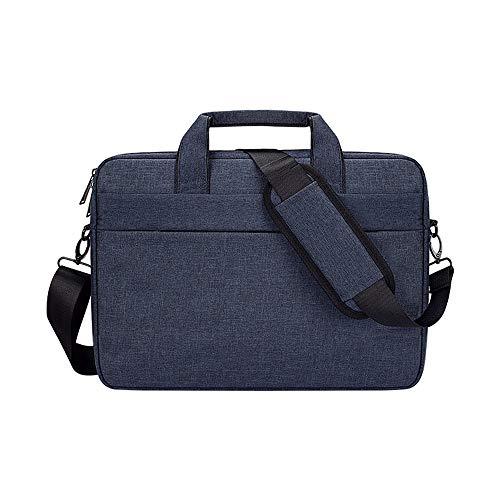 15.6 Inch Laptop Shoulder Bag Compatible with 15-15.6''Acer Aspire 5, HP Pavilion,ASUS TUF,Polyester Sleeve Case with Back Trolley Belt (Navy blue)