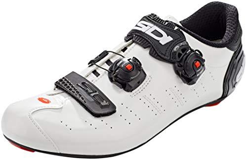 Sidi Ergo 5 - Zapatillas de Ciclismo para Hombre, Color Blanco y Negro, Talla 42