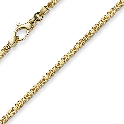 2,5mm Armband Armkette Königskette aus 585 Gold Gelbgold 21cm Herren