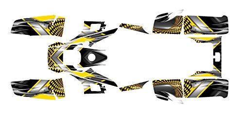Yamaha Warrior 350 Graphics Decal Kit By Allmotorgraphics No7777 (Yellow)