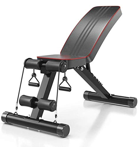 IRIS Fitness 5 in 1 Adjustable Weight Bench Home Training Gym Weight Lifting situp Ab Bench Flat Incline Decline Multiuse Exercise Workout Bench