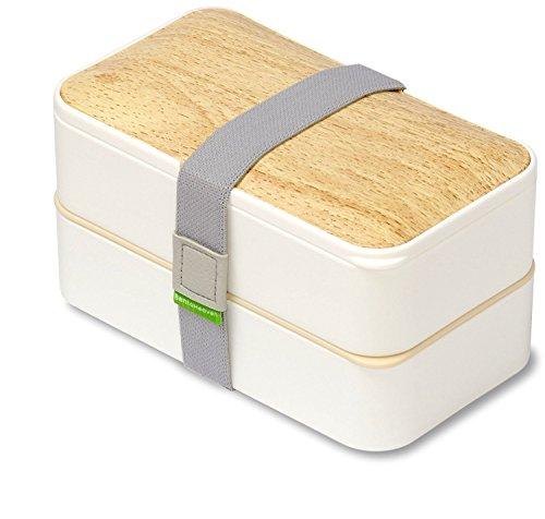 PuTwo Bento Box Fiambreras Bento Caja Bento Caja Almuerzo de 2 Niveles con...