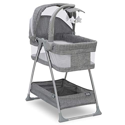 Buy Discount Simmons Kids City Sleeper Bassinet, Grey Tweed