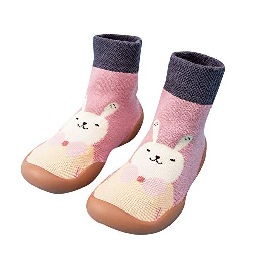 Liamostee and Winter Cartoon Socks Shoes Toddler Shoes Boys Girls First Walk Shoes Thicken Anti Slip