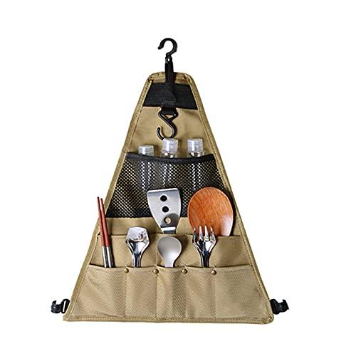 ZJJX Bolsa de almacenamiento para pícnic, portátil, impermeable, para colgar platos, bolsa de almacenamiento para picnics al aire libre