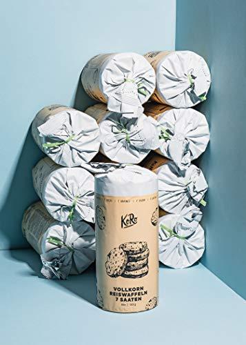 KoRo - Bio Vollkornreiswaffeln 7 Saaten 12 x 120 g - knusprig, perfekt für unterwegs, nur 26 Kalorien pro Stück