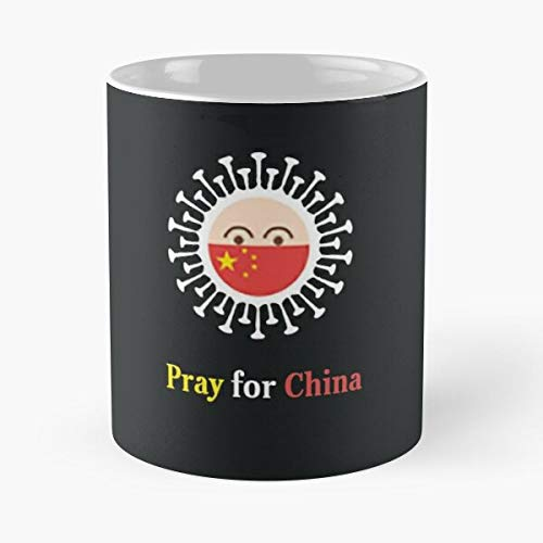 Pray For China Coronavirus Classic Mug - Novelty Ceramic Cups 11oz, Unique Birthday And Holiday Gifts Mom Mother Father.