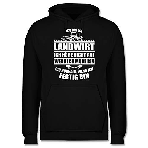 Shirtracer Landwirt - Ich Bin EIN Landwirt - XXL - Schwarz - Fun - JH001 - Herren Hoodie und Kapuzenpullover für Männer