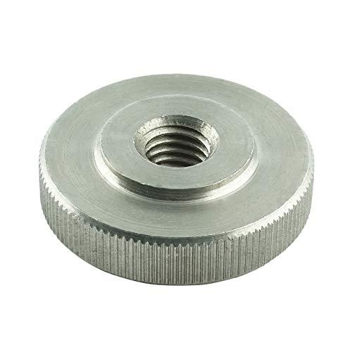 Eisenwaren2000   M6 Rändelmuttern niedrige Form (10 Stück) - Rändel-Mutter DIN 467 - Edelstahl A1 1.4305 - rostfrei