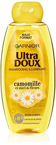 Garnier – Ultra weiches Haarpflegemittel / Shampoo mit Kamillenextrakt und Blumenhonig für blondes Haar – 400 ml – 4 Stück