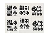 6 Sheet Temporary Tattoo Set QoS, BBC ONLY, I Love BBC 38 Total Tattoos Queen of Spades