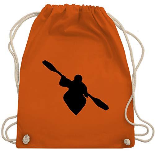 Shirtracer Wassersport - Kajak - Unisize - Orange - baumwolle turnbeutel - WM110 - Turnbeutel und Stoffbeutel aus Baumwolle