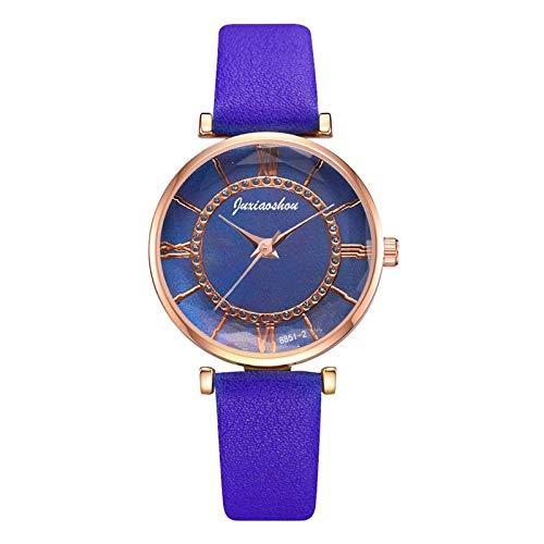 JZDH Relojes para Mujer Relojes Mujeres Magnético Starry Sky Reloj DE Reloj DE CUTOMZO DE RESPUESTOS DE MOMBRES DE Mujer DE Mujer Relojes Decorativos Casuales para Niñas Damas (Color : Coffee)