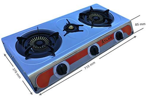 Tecatel – Cocina de gas uso exterior serie ATLAS GE03 INOX