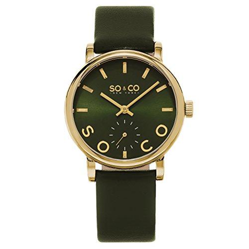 So y Unisex de Nueva York Madison CO Reloj Infantil de Cuarzo con Esfera analógica y Correa de Piel Color Verde 5093l, 4