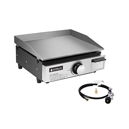 Camplux Propane Gas Griddle, Outdoor Griddle Combo, Portable Gas Griddle with 20 lb and RV Regulator for Home Camping and RV Traveling