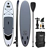 HIKS Products Battleship Grey 10.6ft / 3.2m Stand SUP Board Set Inc Paddle, Pump, Backpack & Leash Suitable All Abilities Ideal Beginners Inflatable Paddleboard Kit,One size