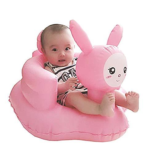 Rubyu - Sofá Hinchable para niños, para bebés, Impermeable, con Forma de Conejo Rosa, para Interior o Exterior